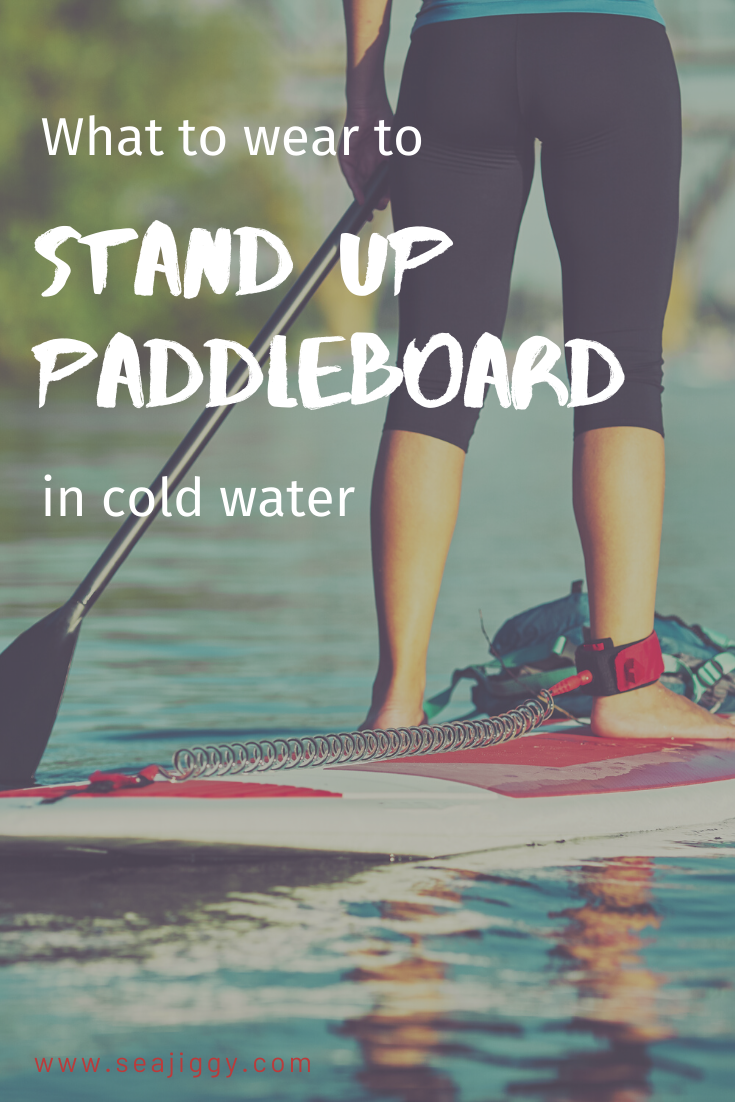 Wanting to stand up paddleboard, but you live somewhere with cooler water temperatures? Get the best recommendations on what to wear to stand up paddleboard in cold water. Learn what type of wetsuit you need, and how to be prepared for the conditions for your next SUP adventure. #paddling #SUP #paddleboard
