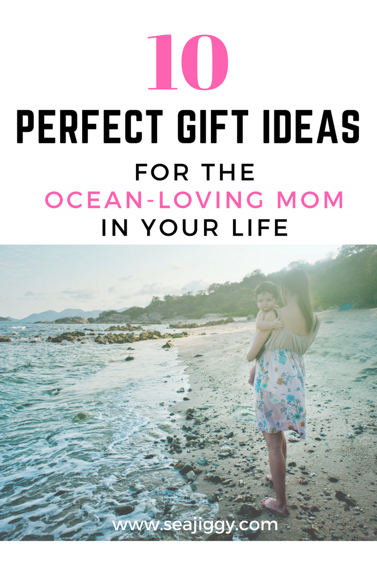 Need a gift for the active mom who surfs, kayaks, swims, sails, paddles SUP, scuba dives or just lounges on the beach? Any ocean mom will love these awesome gift ideas. Check out these swimwear, sandals, skincare and gear suggestions. #momgift #oceangiftideas #giftsforher