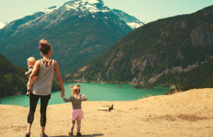 how adventure more with your kids woman and children hiking outdoors